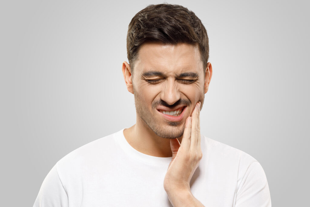 Individual with TMJ Pain
